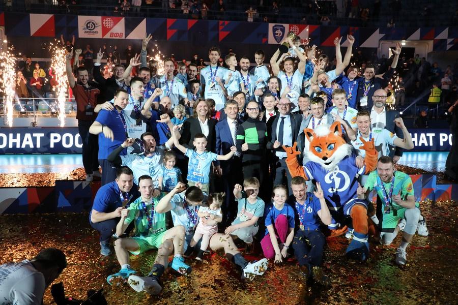 Суперлига на Русия Паримач Динамо шампион! Цецо Соколов с требъл!