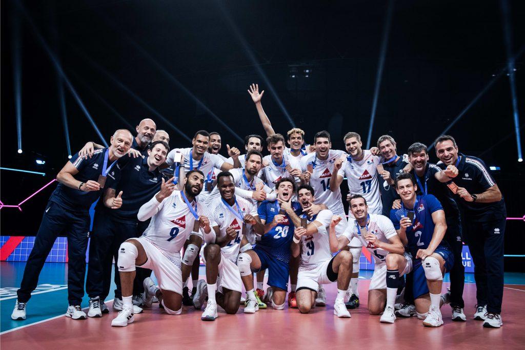 VNL21 M Франция спечели бронзовите медали!