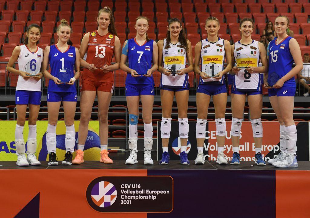 EuroVolley21 U16W Ива Дудова в идеалния отбор на шампионата!